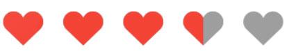 تصویرRatingBar قلب