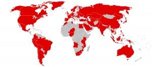 کشورهای مورد حمله باج افزار wannacry